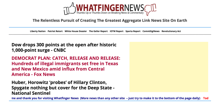 To Reiterate: Whatfinger Is The Drudge Alternative For Beyond The New Year