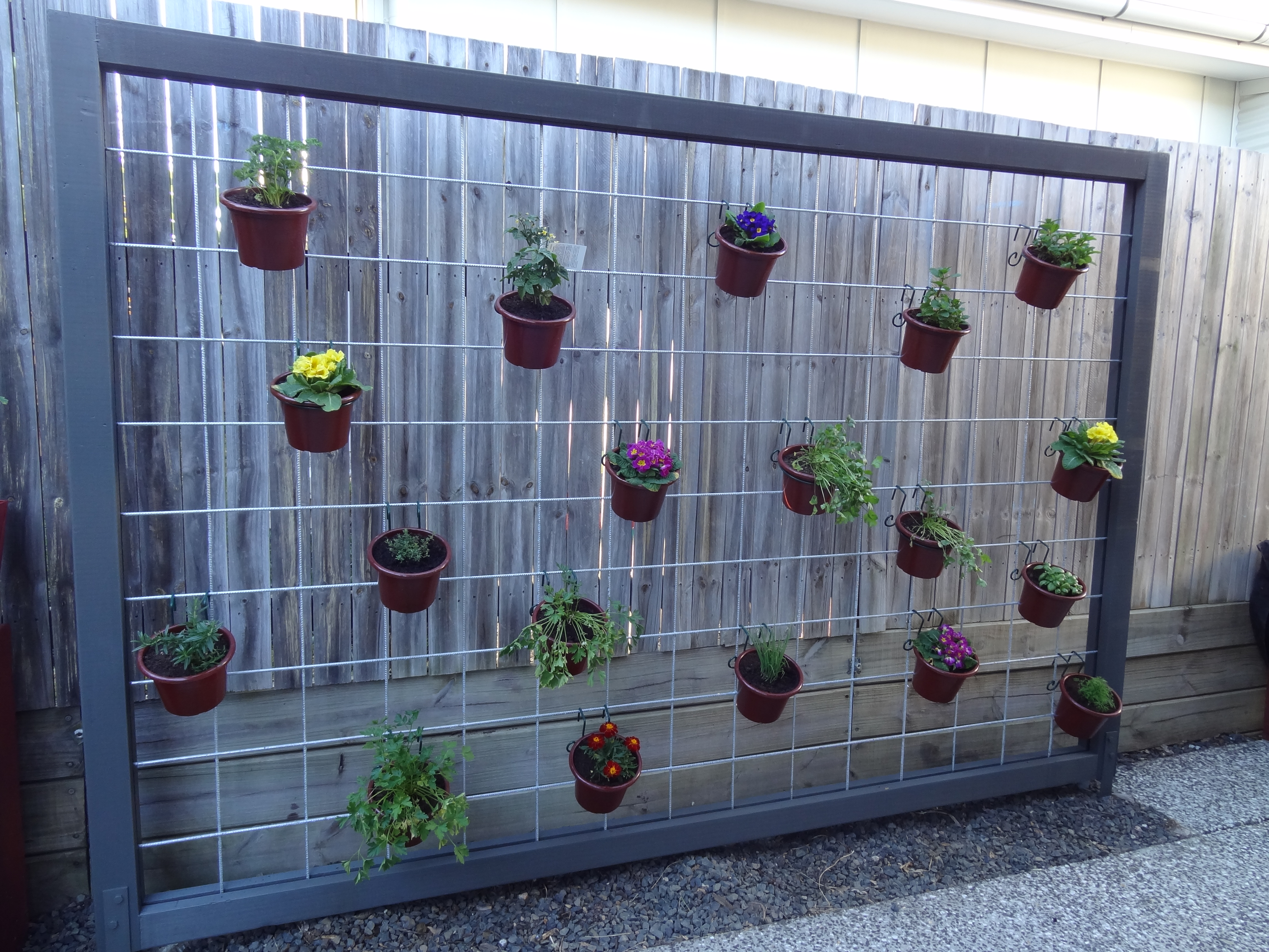 Hanging Herb Garden – Finished! There Was A Crooked House