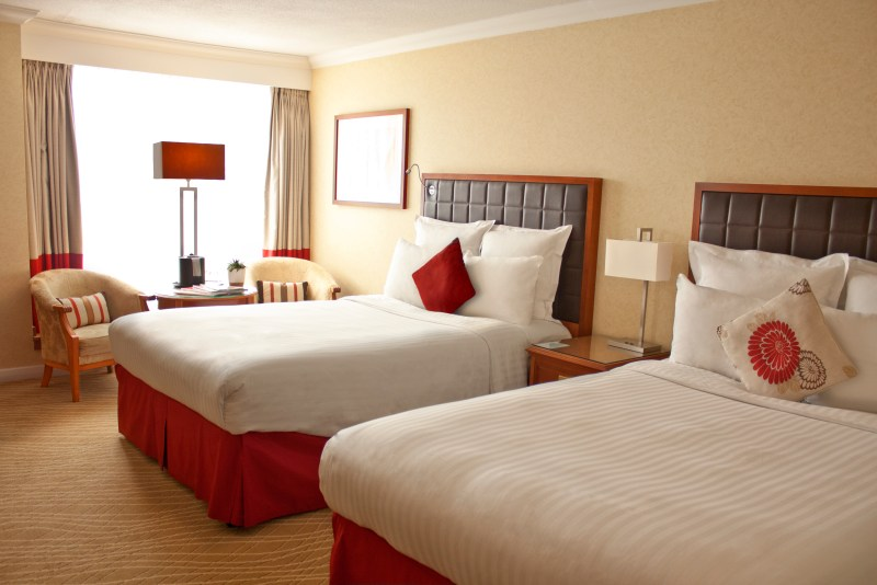 Double double family rooms at the Marriott Windsor hotel