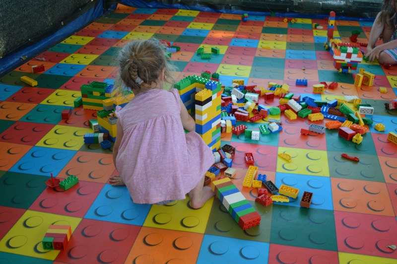 The Lego building tent at Camping Ca'Savio