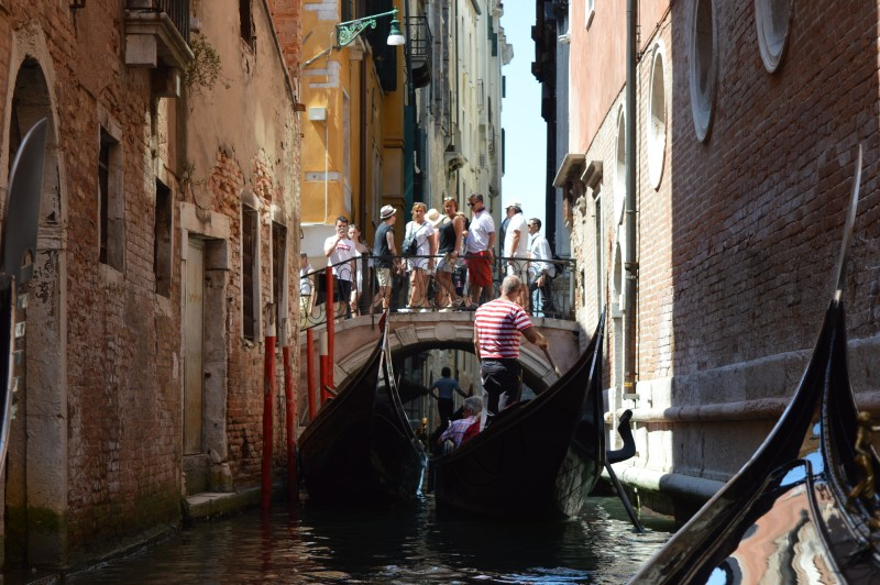 Gondoliers on Venice's canals
