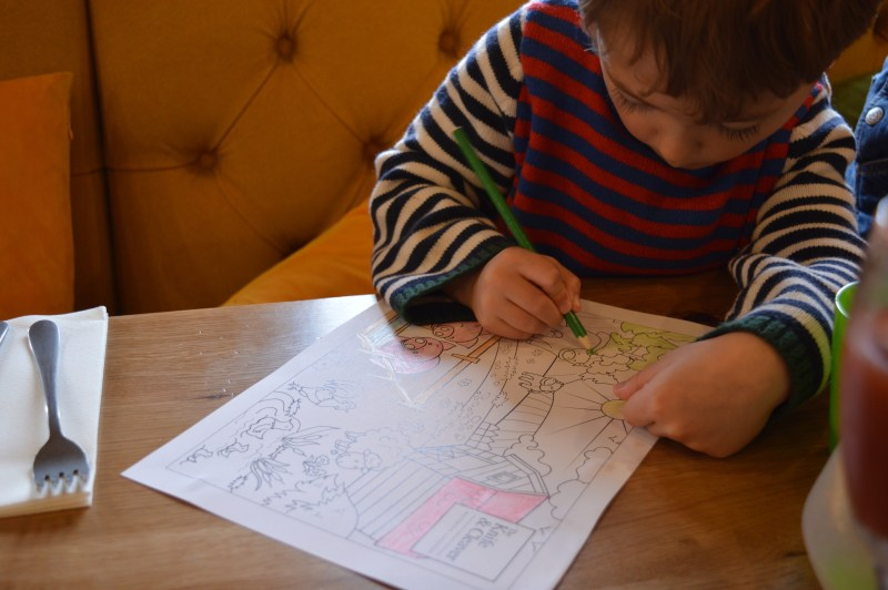 Colouring in at Tyhe Knife & Cleaver
