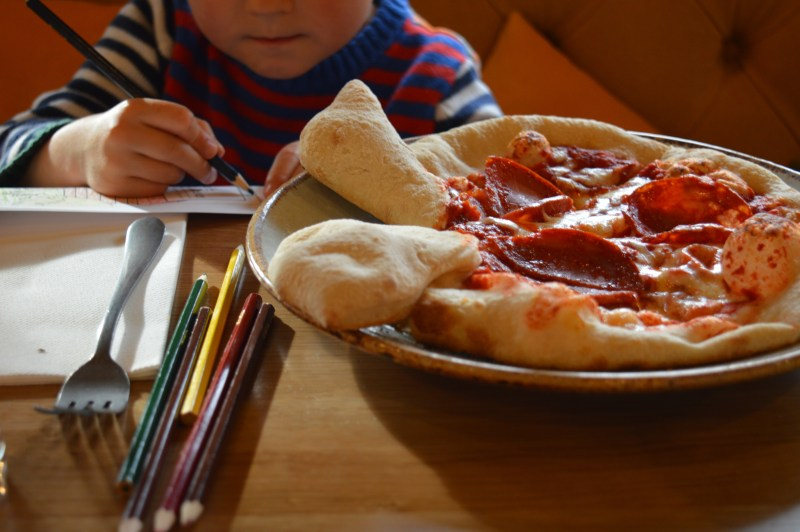 Pizza from The Knife & Cleaver's new children's menu
