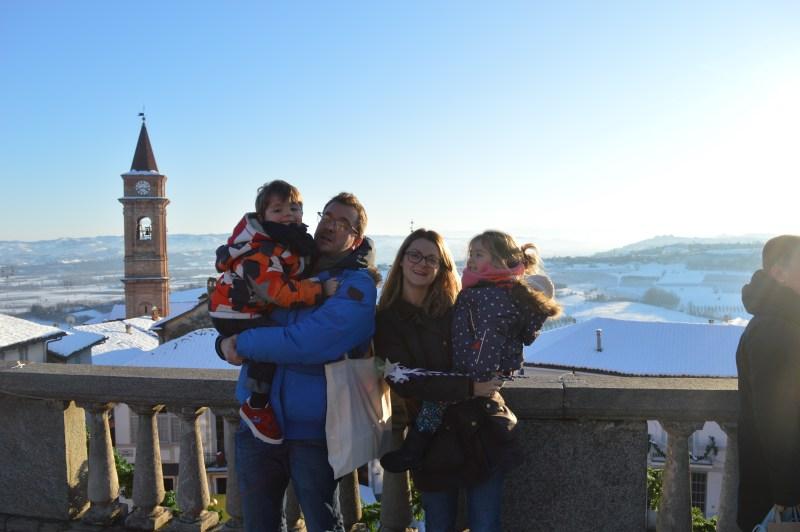 Our family at il Magico Paese di Natale