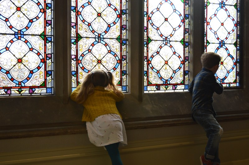 Stained glass windows at Rockliffe Hall