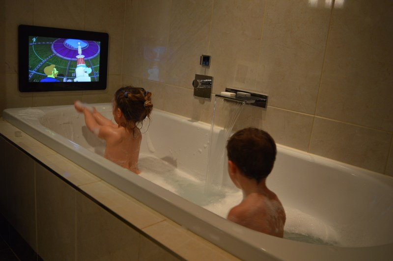 Flatscreen TV in the bath