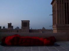 Sleeping outside, Yazd