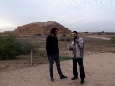 Sadeq testing my knowledge, ziggurat of Choga Zanbil