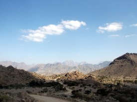 The mountains in the north of Oman are very barren, desolate and rocky