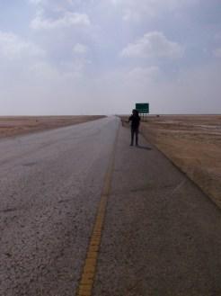 Hitchhiking through a vast void, close to Masirah island