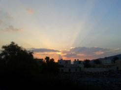 Sun sets over al-Rustaq