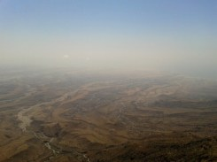 View from the summit of Jebel Samhan