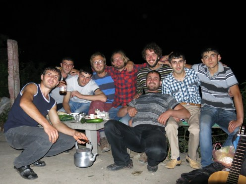 Hanging around with our friends in Vahagni (picture by JC)