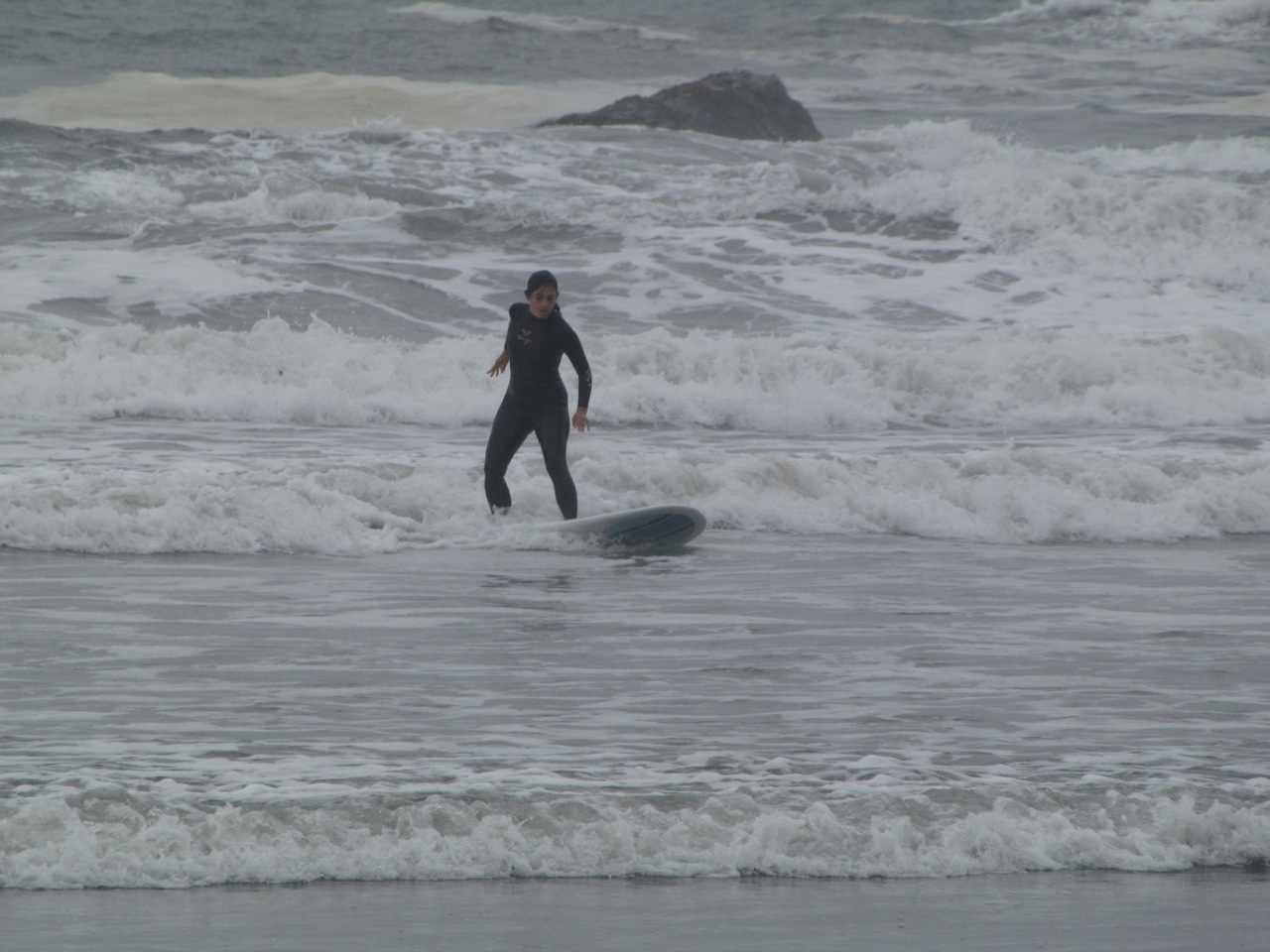 That's me out in the 'washing machine' waves that were last weekend.