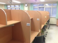 The top ranked 34 students in each grade get a special cubical to do extra studying