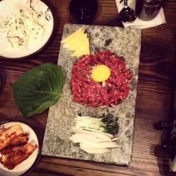 Yukhoe, or Korea's version of steak tartare