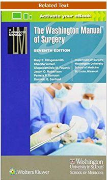 Washington manual of surgery PDF