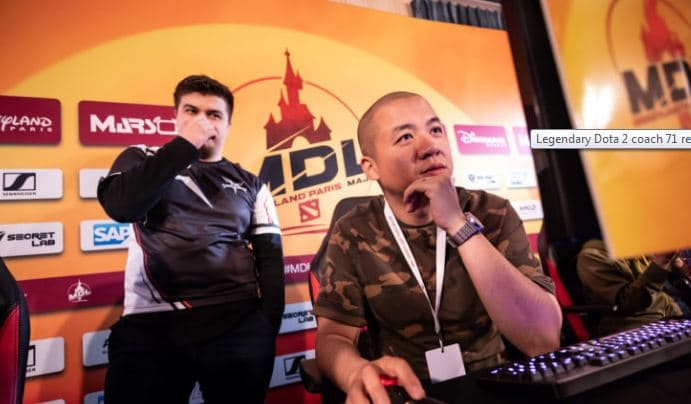 Dota 2 Legendary coach 71 returns to China Along with Keen Gaming