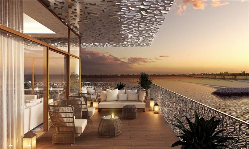 Terrace of Bulgari Suite, Dubai