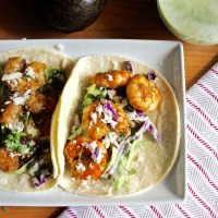 Blackened Shrimp Tacos with Avocado Dressing