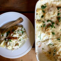 Pinch of Yum's Garlic Parmesan Chicken Lasagna Bake