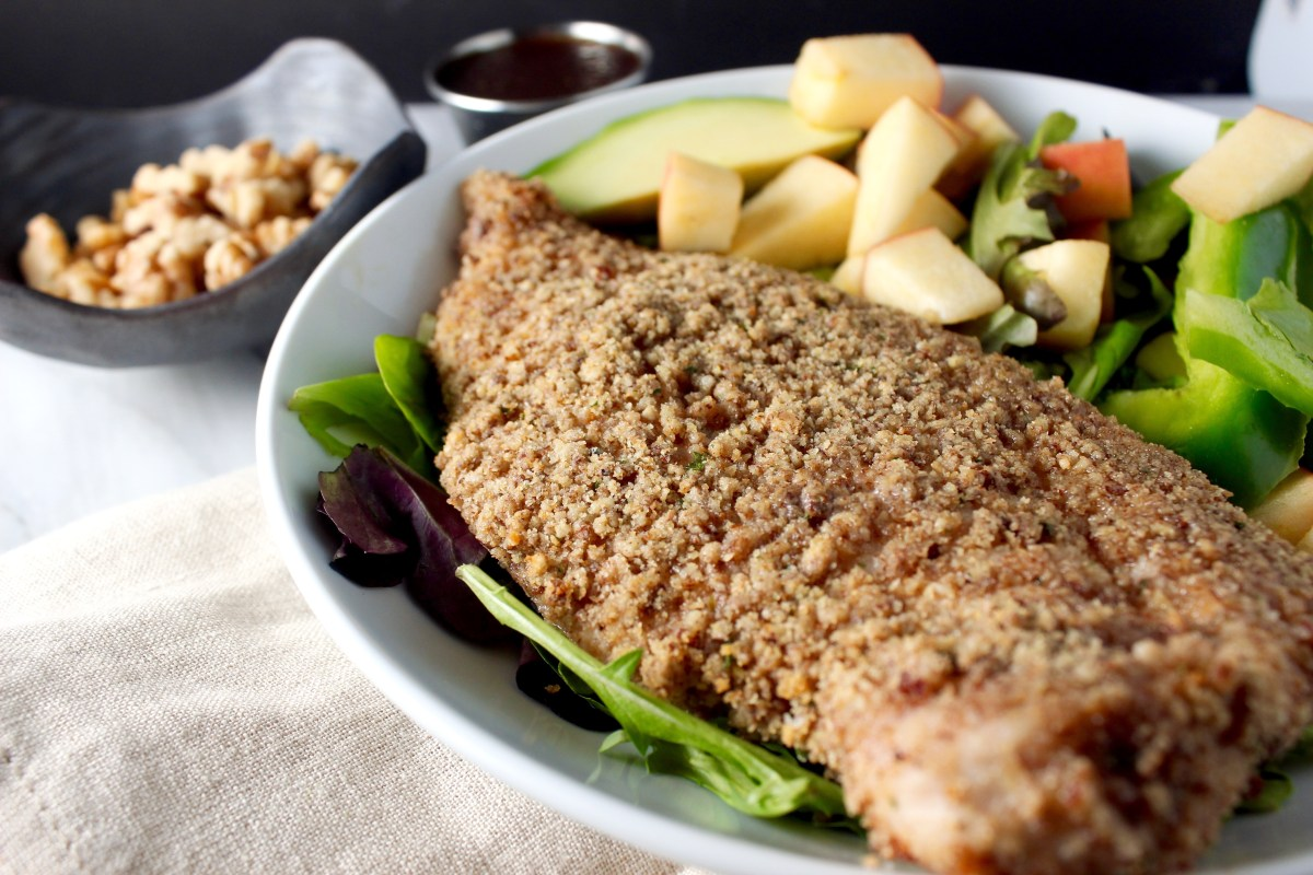 Baked Maple Pecan Crusted Chicken