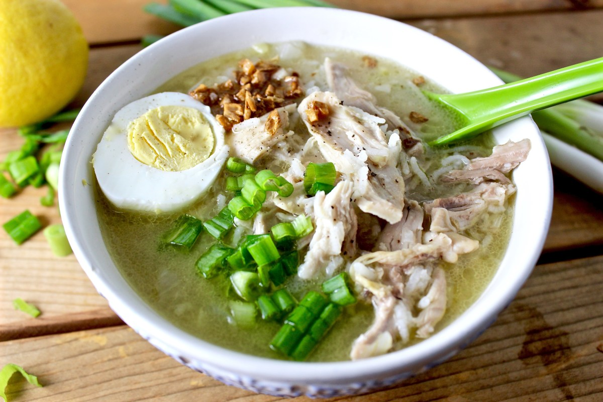 Arroz Caldo (Filipino Chicken and Rice Congee)