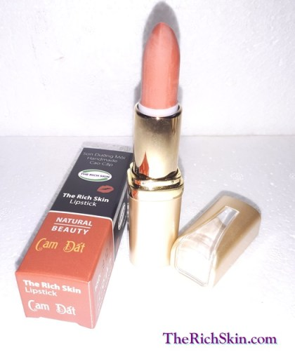 son duong moi co mau handmade chat luong cao The Rich Skin - Lipstick - lipbalm - matte lipstick - colour lipstick - clip care- natural thien nhien-cam dat 8
