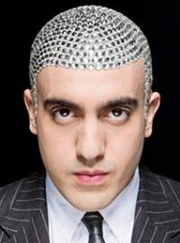 The Man Who Studded His Scalp With Swarovski Crystals