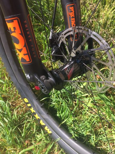 Roval Traverse Carbon Wheels mated to the Fox 34 Forks