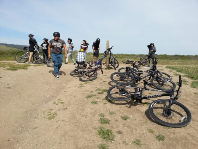 Reveling in the heady combination of bikes and ocean air