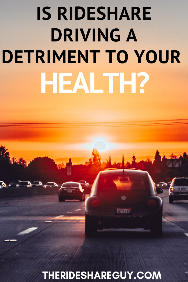 Is Rideshare Driving A Detriment To Your Health? It is easy to gain weight being a Rideshare driver. Here are some strategies and tools to become healthier. #health #rideshare #ridesharedrivingtips