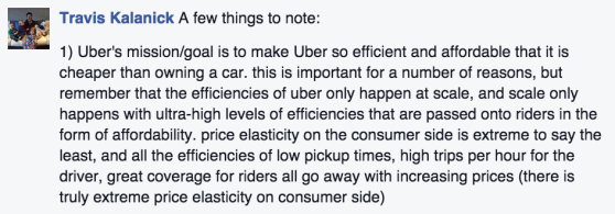 Uber Travis Kalanick Facebook Quote
