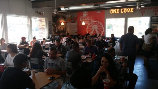 Inside Seating At Raising Cane's Chicken