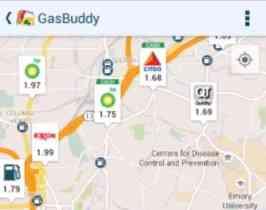 Screenshot of GasBuddy app