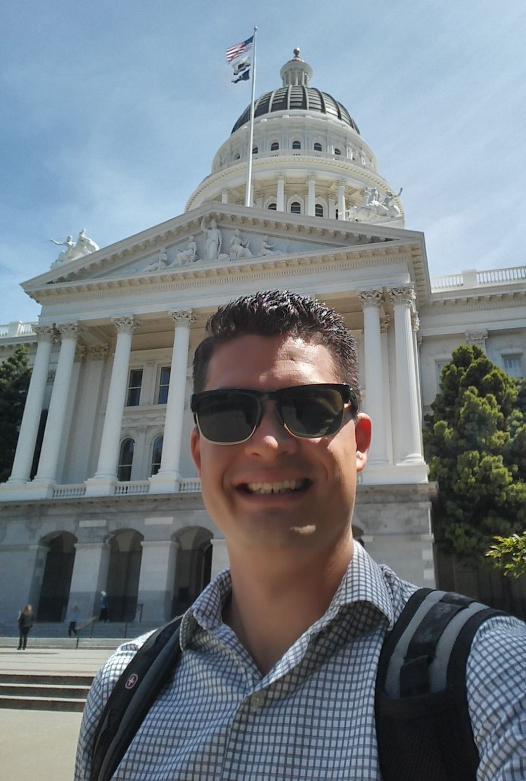 Me standing outside the capitol building in Sacramento