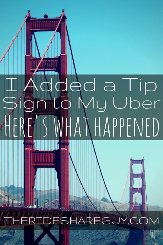 graphic regarding Printable Tip Jar Signs titled The Rideshare Gentleman: Weblog And Podcast For Rideshare Motorists