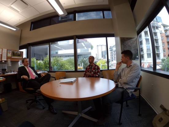 Christian and I meeting with Austin Councilman Don Zimmerman