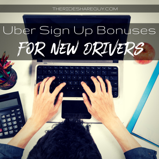 Uber driver sign-up bonus