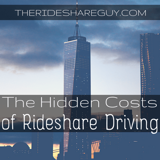 Rideshare driving isn't all about getting in your car, flipping on an app and going. There are hidden costs associated with driving!