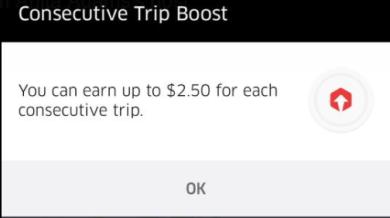 consecutive trip boost