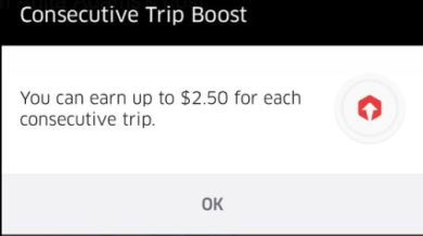 consecutive trip boost