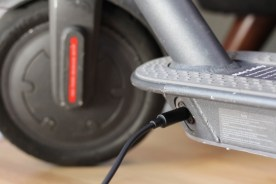 Plugging in a Bird Scooter to Charge