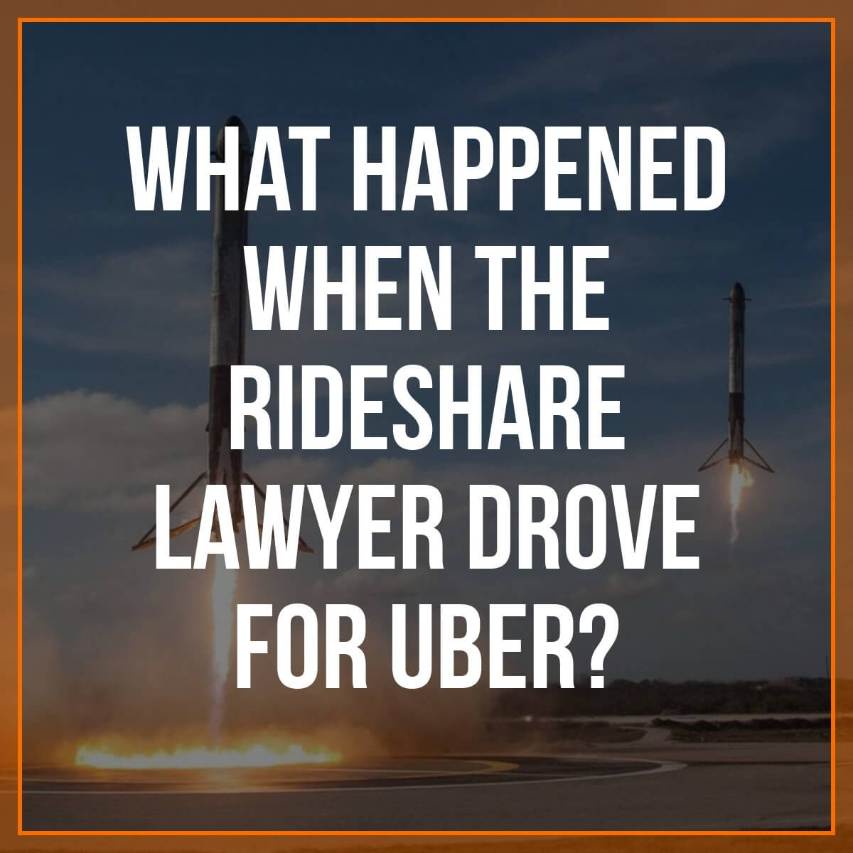A lot of companies that market to rideshare drivers don't know the first thing about driving. Rideshare lawyer Bryant Greening decided to walk the walk as a driver - and this is what he discovered -
