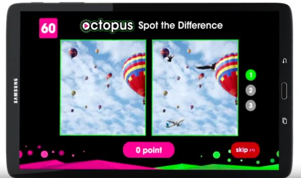 image of Play Octopus: A Gaming Tablet For Passengers