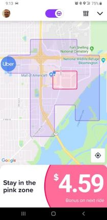 image of Example of Lyft Personal Power Zone