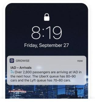 Gridwise arrivals info