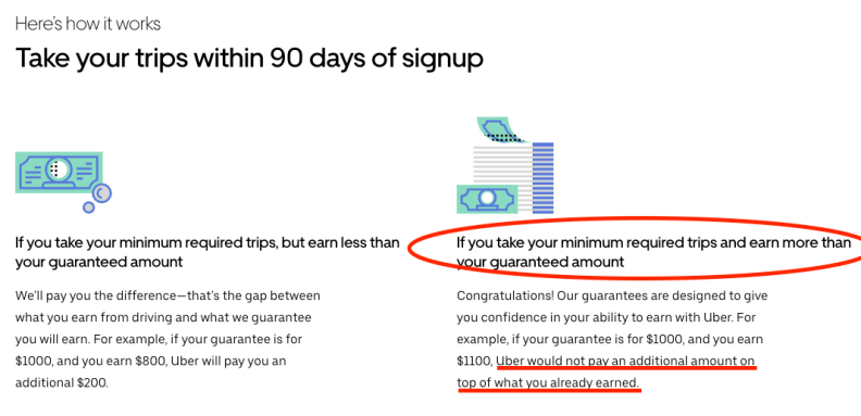 Uber explains how guaranteed earnings work a little better now