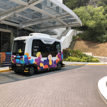 Driverless bus: If only there weren't butterflies on campus