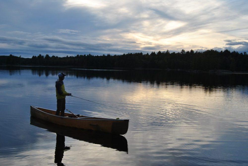 4 day canoe trip in Killarney provincial park - fishing on Balsam Lake